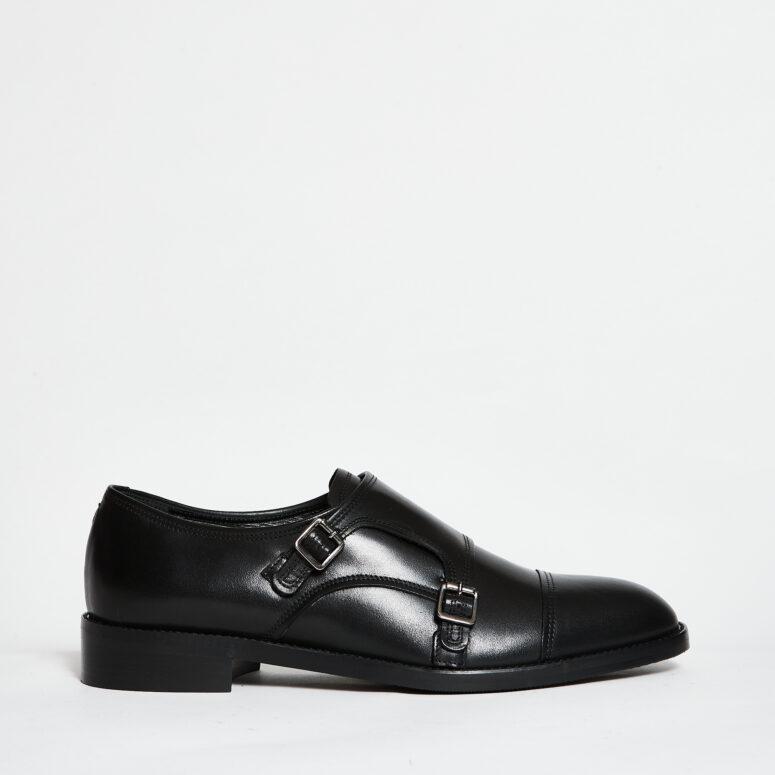 Guglielmo.rotta-scarpa-monk-strap-pelle-nera