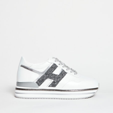 Hogan-Sneakers-Midi-H222-Nero-Argento